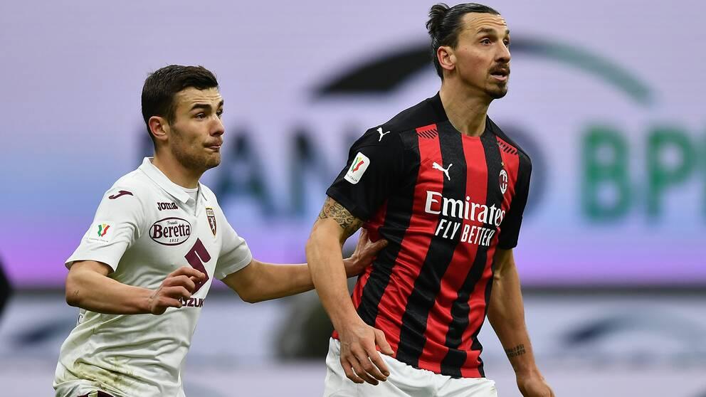Zlatan Ibrahimovic byttes ut tidigt mot Torino.