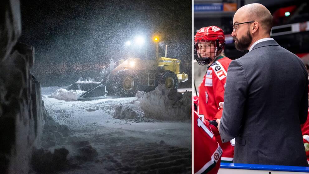 Modos match i kväll skjuts upp på grund av snöovädret.