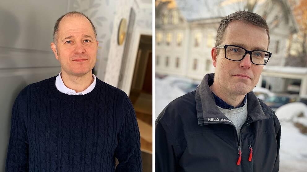 Magnus Svensson (C), regionråd, och Patrik Stenvard (M), oppositionsråd.