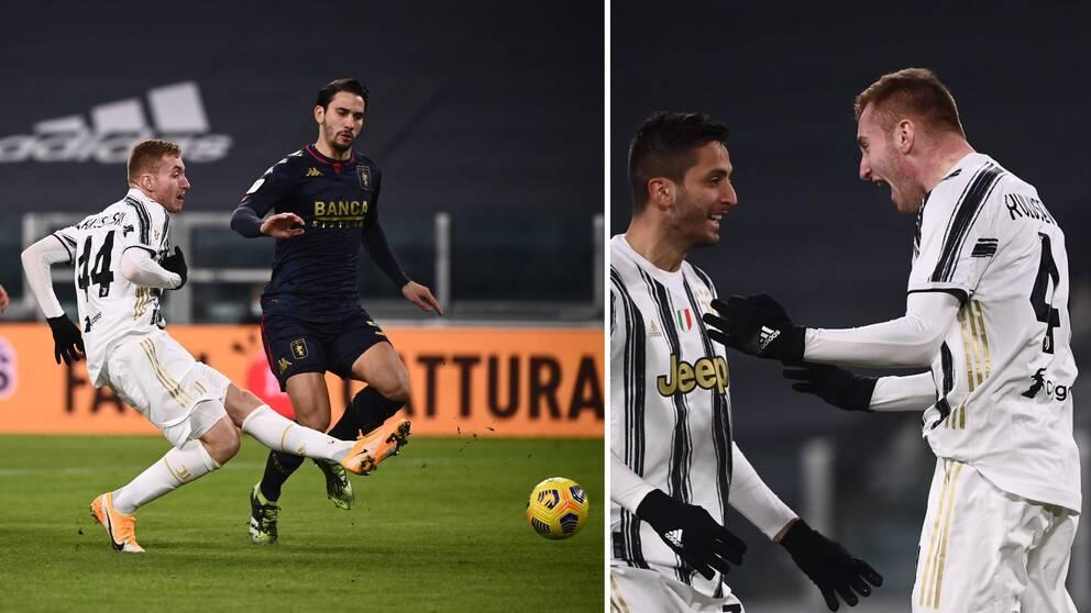 Dejan Kulusevski nätade direkt mot Genoa.