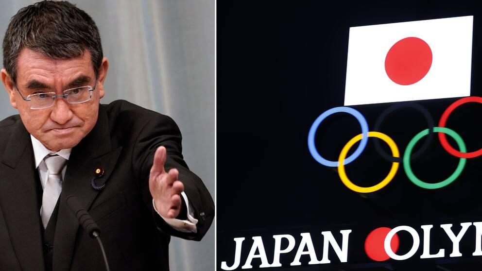 Taro Kono är tveksam till om Tokyo-OS blir av i sommar.