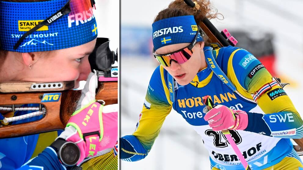 Hanna Öberg missade pallen i torsdagens sprint.