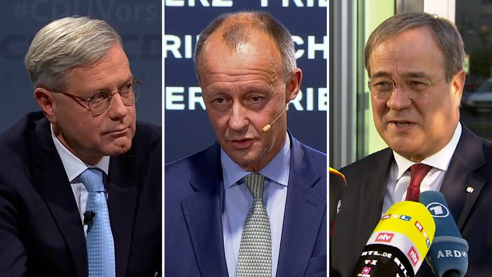 Norbert Röttgen, Friedrich Merz och Armin Laschet hoppas alla på att få efterträda Angela Merkel som partiledare för CDU.