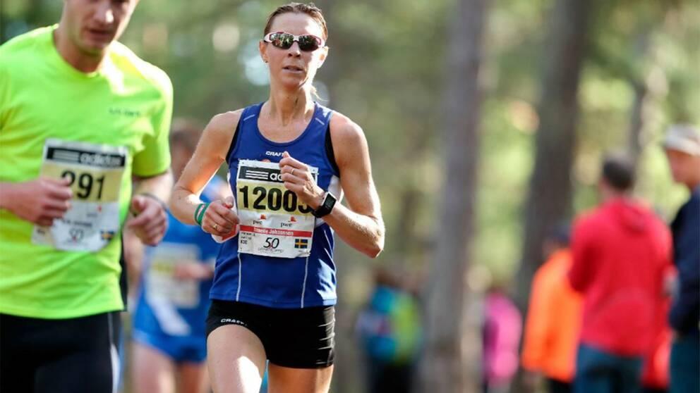 Annelie Johansson har tränat löpning i sju år och tillhör idag sverigeeliten i maraton.