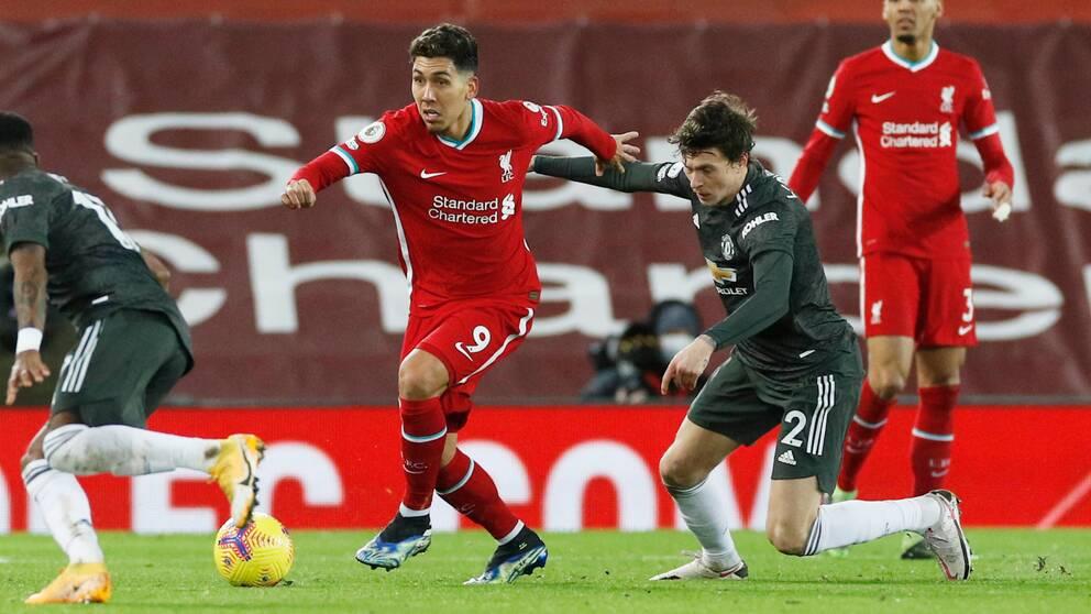 Victor Nilsson Lindelöf och hans United spelade 0-0 mot Liverpool.
