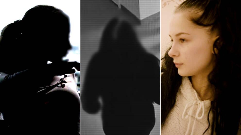 Bild på tre tjejer