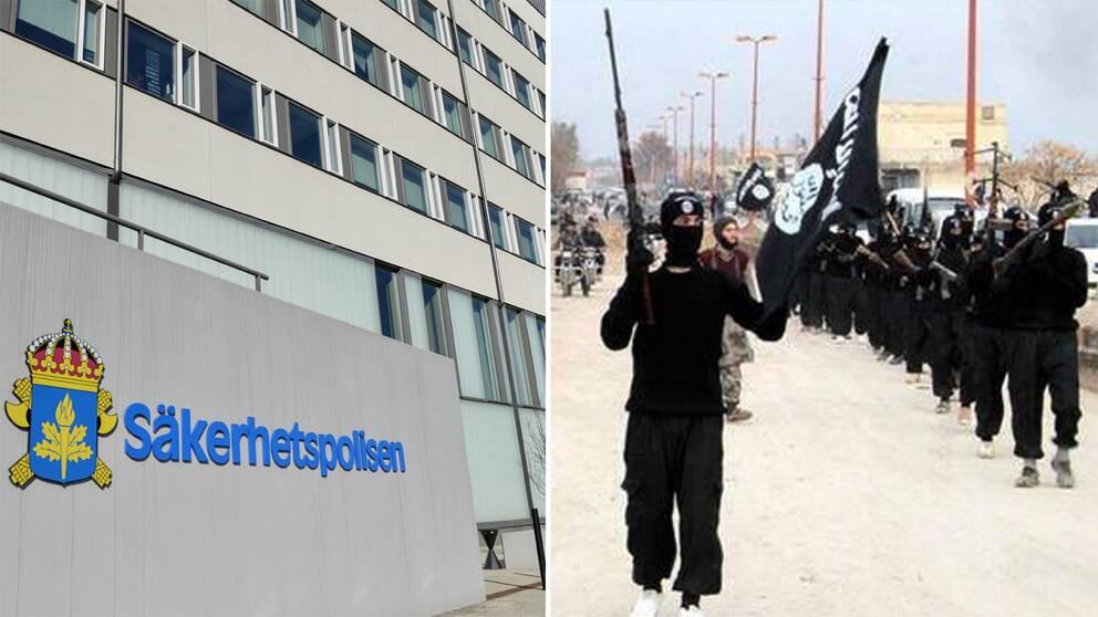 Under måndagen har Säpo gripit två personer med misstänkta kopplingar till terrorgrupper. Enligt Säpo ska det inte finnas några kopplingar mellan de två händelserna.