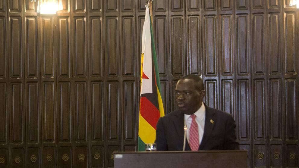 Zimbabwes utrikesminister Sibusiso Moyo.