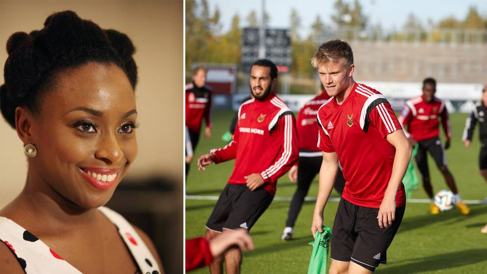 Chimamanda Ngozi Adichie hälsar till ÖFK
