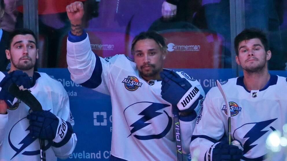 J.T Brown var den förste spelaren att protestera under den nationalsången i NHL.