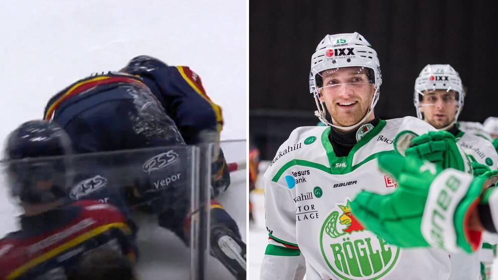 William Eklund skadade sig när Rögle vann.