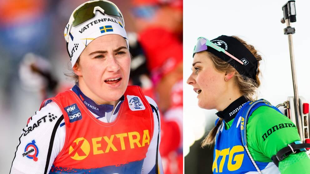 Ebba Andersson är övertygad om att Stina Nilsson kommer att bli bättre på skidskytte.