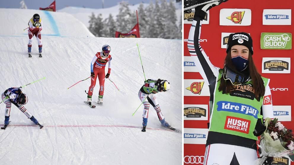Alizée Baron vann lördagens tävling i Idre.