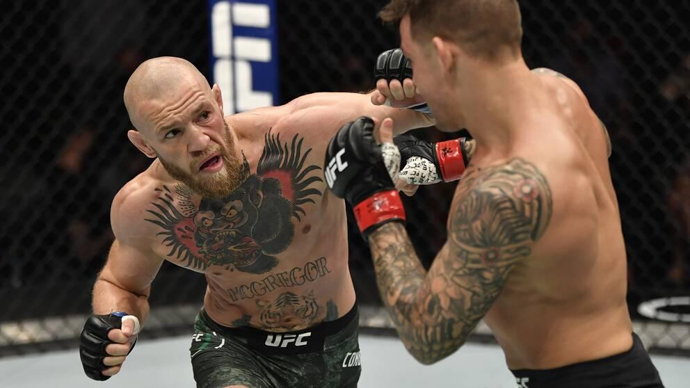 Conor McGregor öppnade starkt, men förlorade returmötet med Dustin Poirier.
