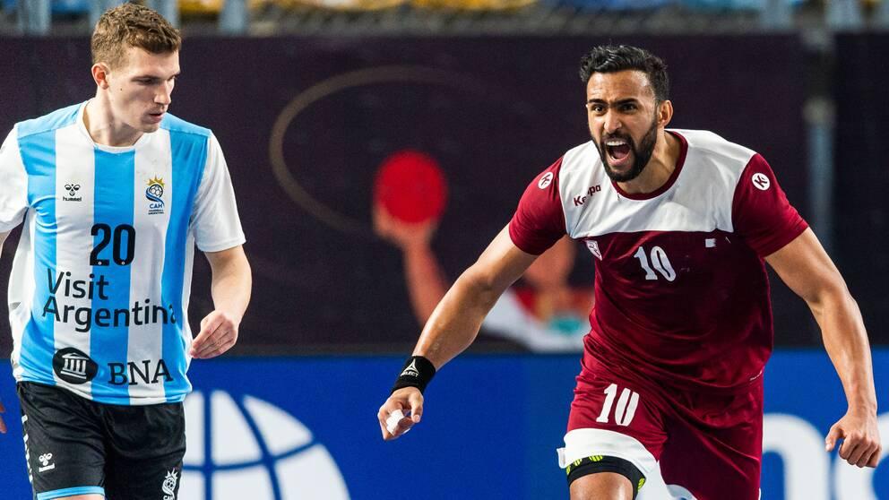 Frankis Marzos Qatar besegrade Argentina i den sista gruppspelsmatchen.