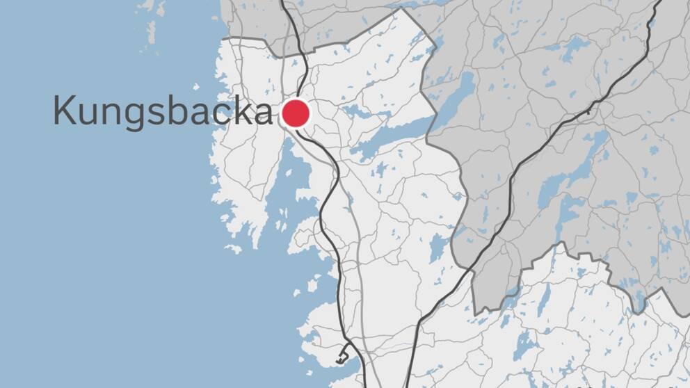En karta som visar Kungsbacka.