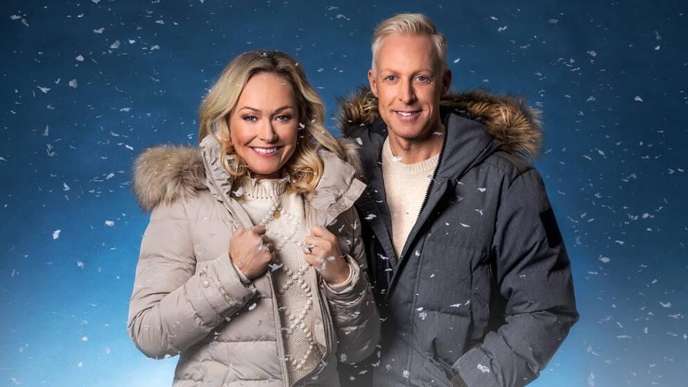 Yvette Hermundstad och André Pops leder SVT:s VM-sändningar.