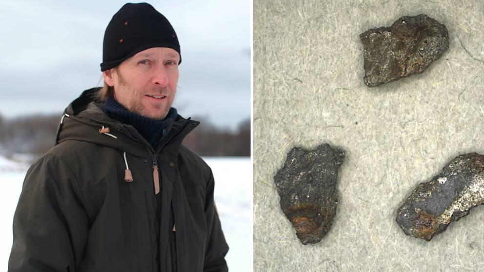 Hör Jörgen Langhof berätta mer om meteoritfyndet i spelaren.