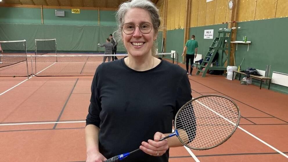 Badminton är fantastiskt roligt, säger Helena.