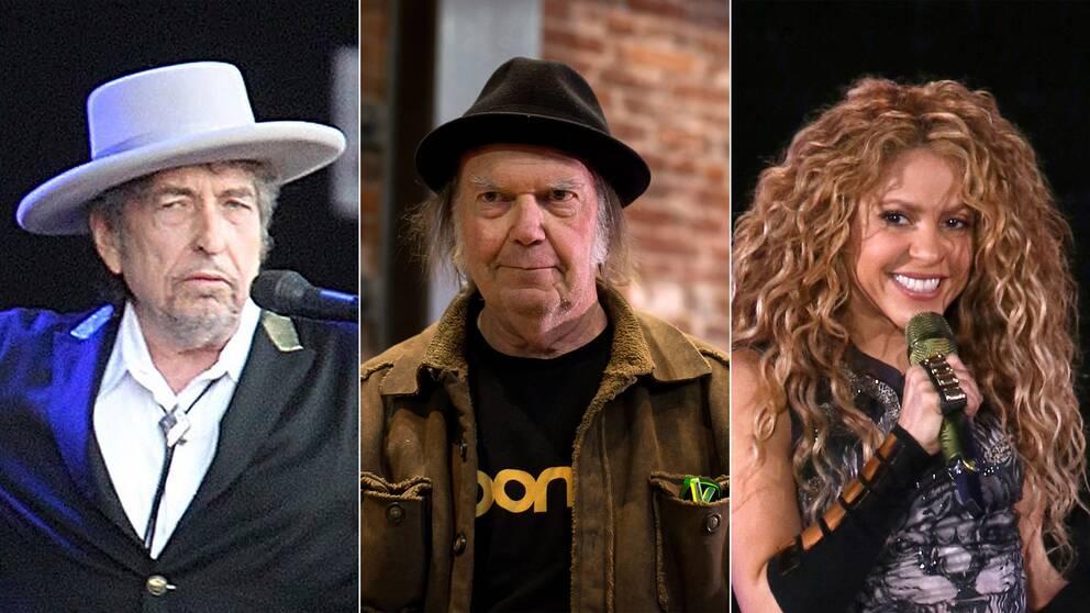 Bob Dylan, Neil Young och Shakira.