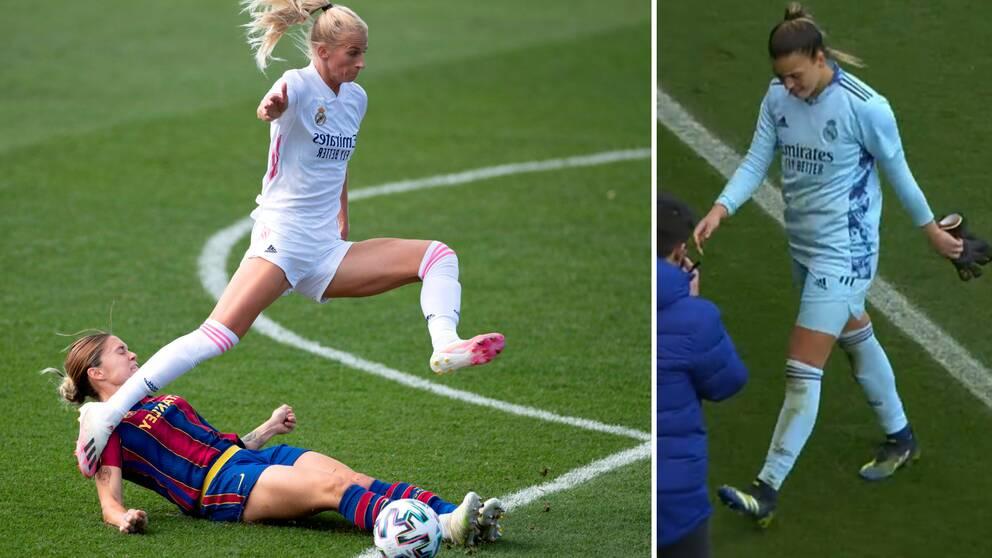 Barcelona satte stopp för Sofia Jakobssons Real Madrid.