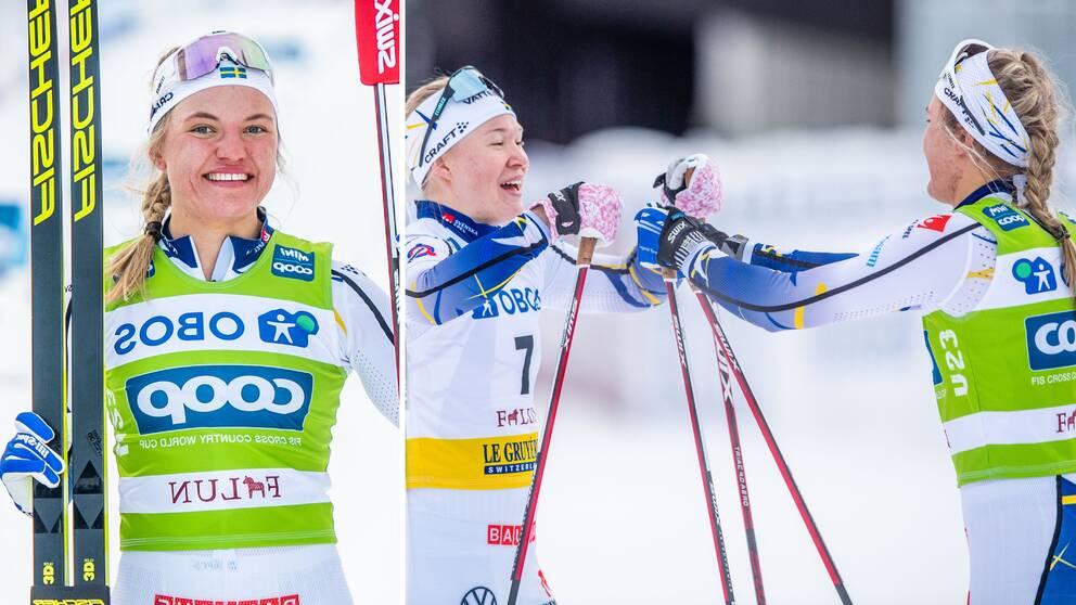 Linn Svahn vann damernas sprint i Falun.