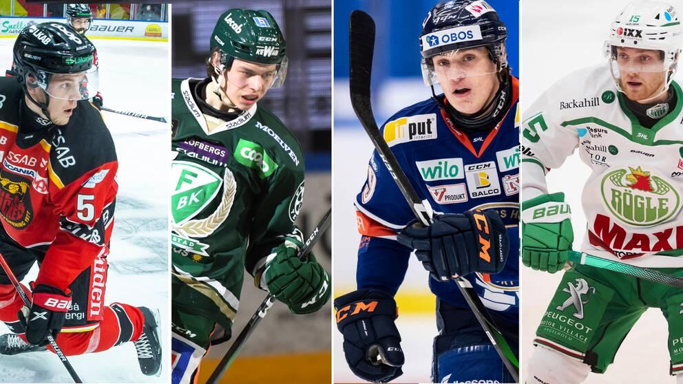 Filip Hållander, Albert Johansson, Pontus Holmberg och Simon Ryfors får debutera i Tre Kronor.