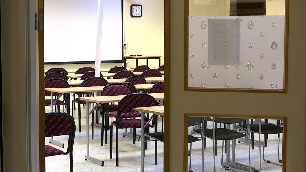 Tomt klassrum.