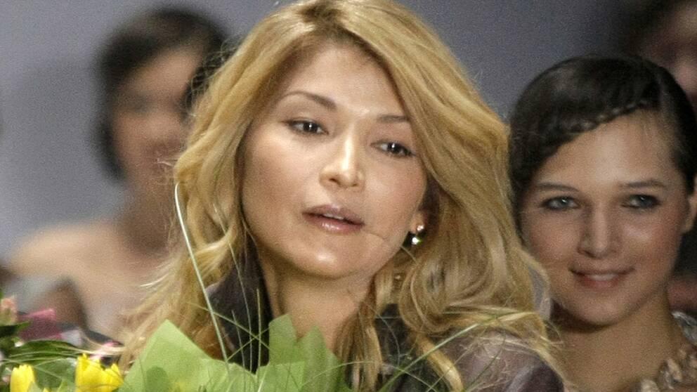 Bilden visar Gulnara Karimova, dotter till den dåvarande diktatorn Islam Karimov.
