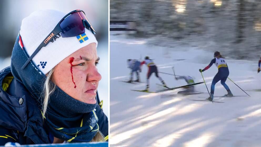 Linn Svahn föll i kvartsfinalen.