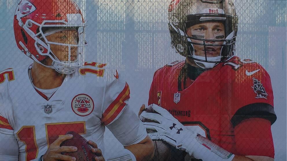Patrick Mahomes och Tom Brady är huvudpersoner inför Super Bowl.