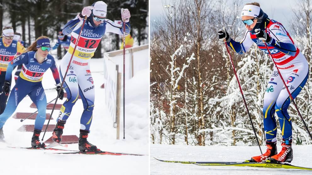 Både laget med Jonna Sundling och laget med Linn Svahn vann sina semifinaler.