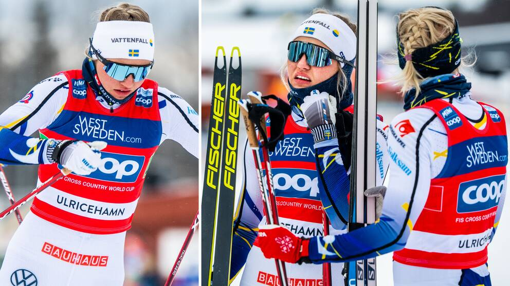 Linn Svahn och Maja Dahlqvist blev tvåa i lagsprinten.