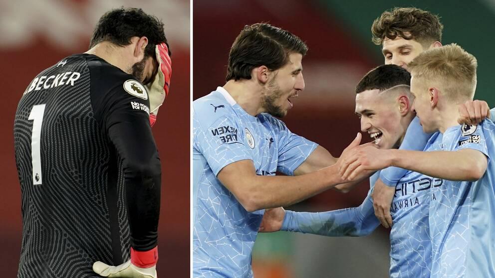 Manchester City vann toppmötet på Anfield.