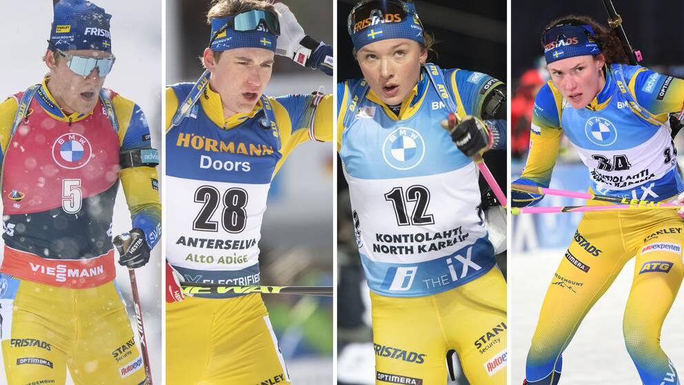Sebastian Samuelsson, Martin Ponsiluoma, Linn Persson och Hanna Öberg.
