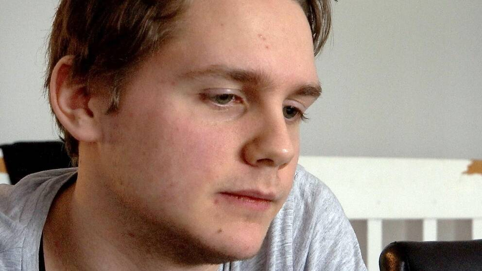 Anton Lilja gymnasieelev på Fordons- och transportprogrammet på Carlsund utbildningscentrum i Motala