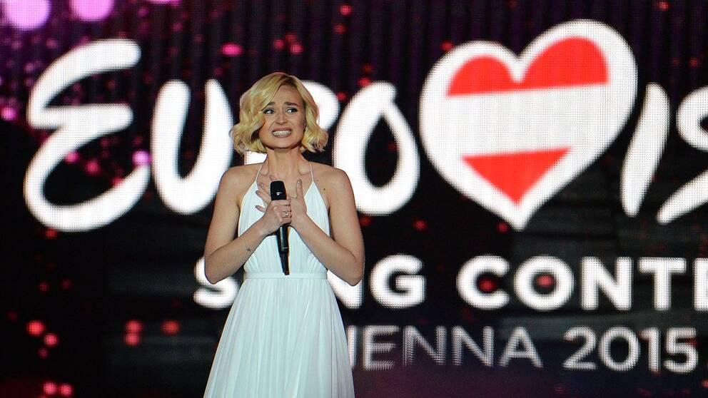 Polina Gagarina representerade Ryssland under Eurovision-finalen 2015.