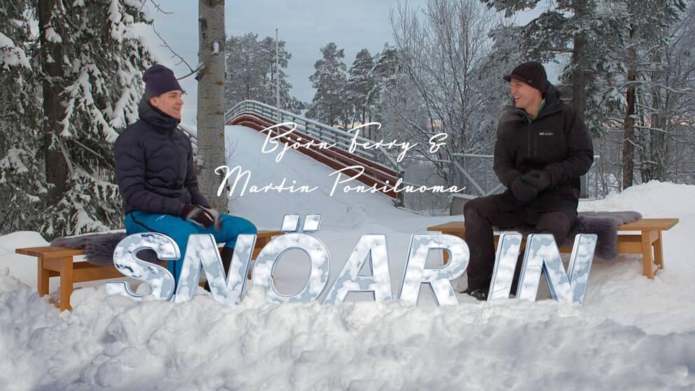 SVT Sports expert Björn Ferry och VM-åkaren Martin Ponsiluom