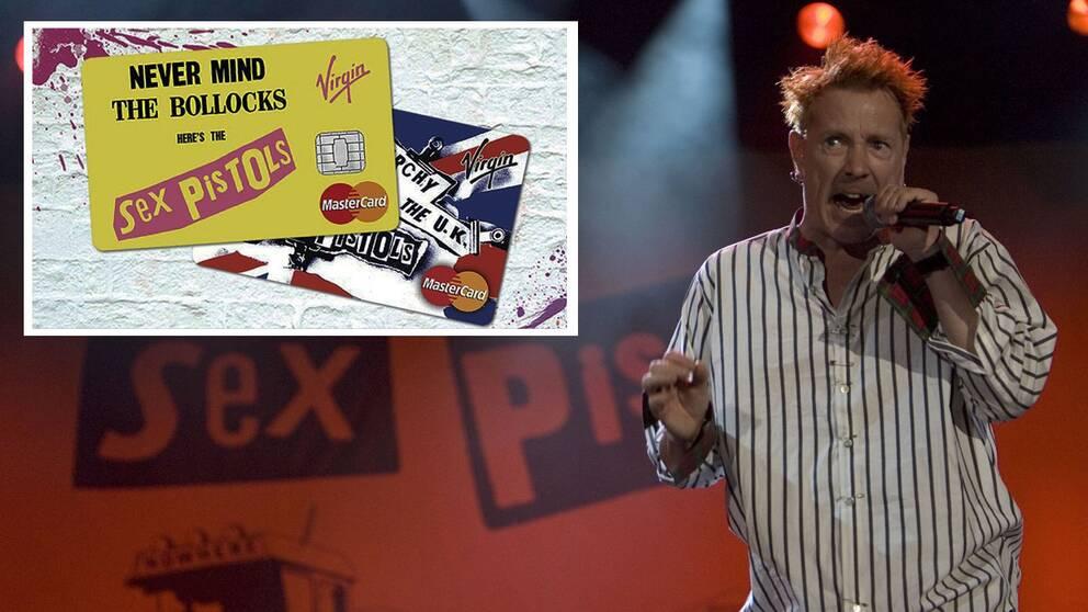 Sex Pistols uppträder i Storbritannien 2008.