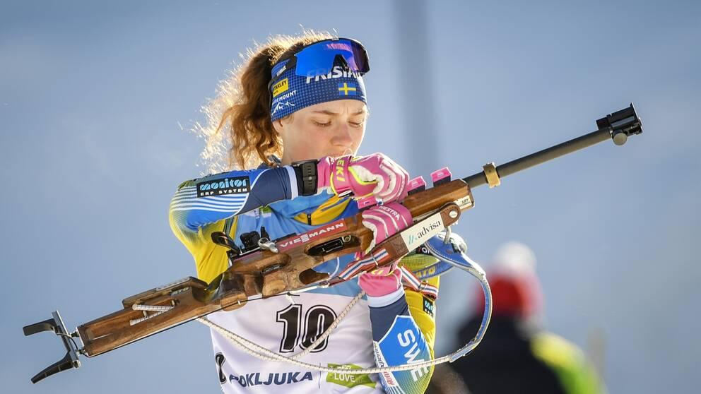 Hanna Öberg sköt bort sig i jaktstarten.