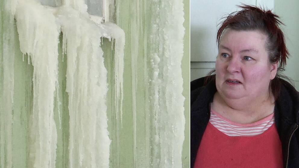 Litet el-element i hyreshuset i Fredriksberg med hyresgästen Tuulikki Lindberg.