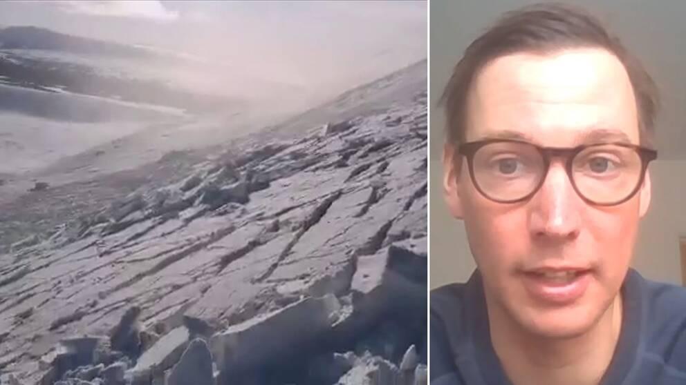 Dubbelbild. En flaklavin till vänster och en korthårig men med glasögon till höger.