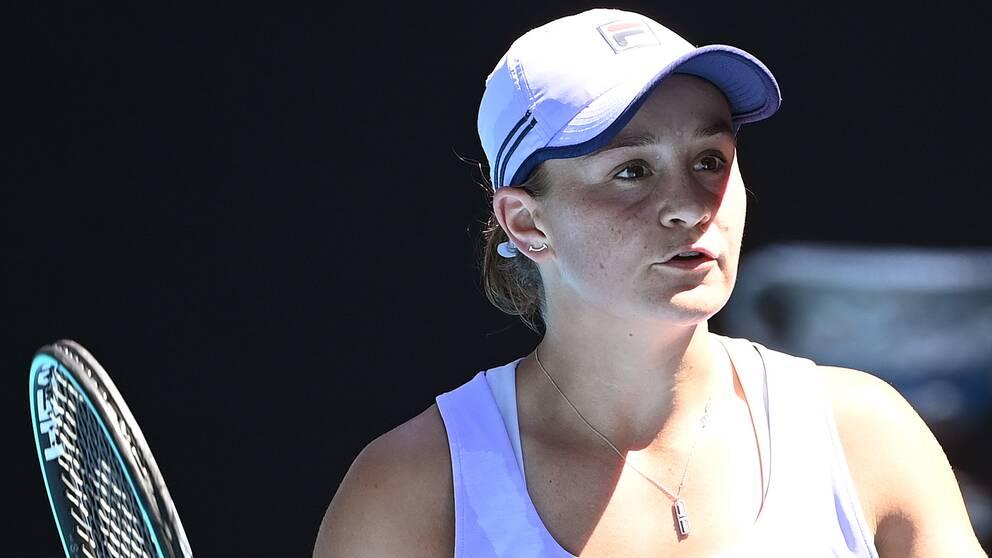Ash Barty är utslagen ur Australian Open.