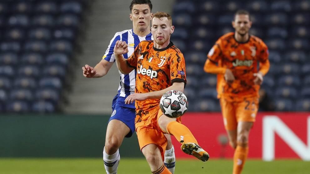 Dejan Kulusevski blev utbytt med kvarten kvar i Champions League-åttondelen.