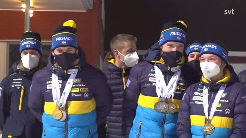 Skidskyttelandslaget är tillbaka på svensk mark.