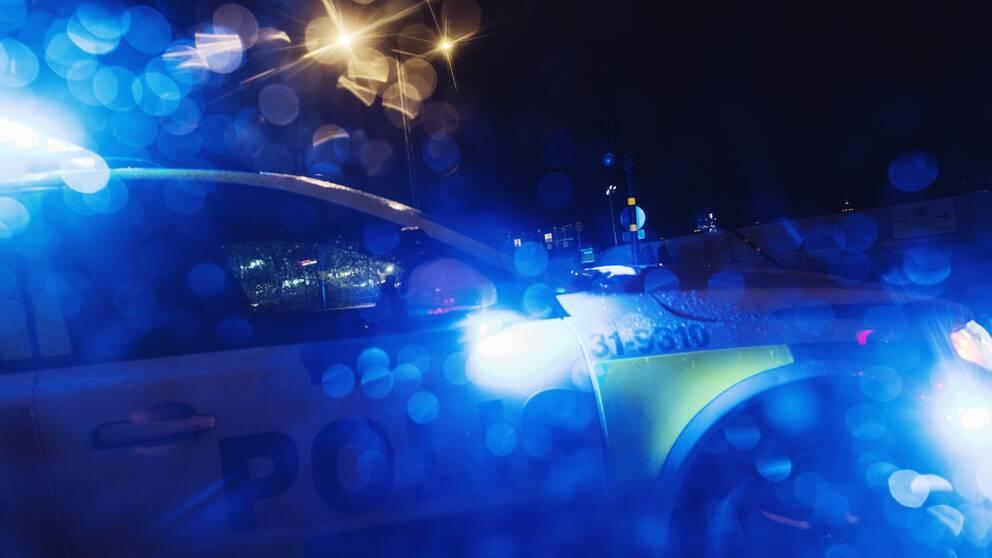 Polisinsats.
