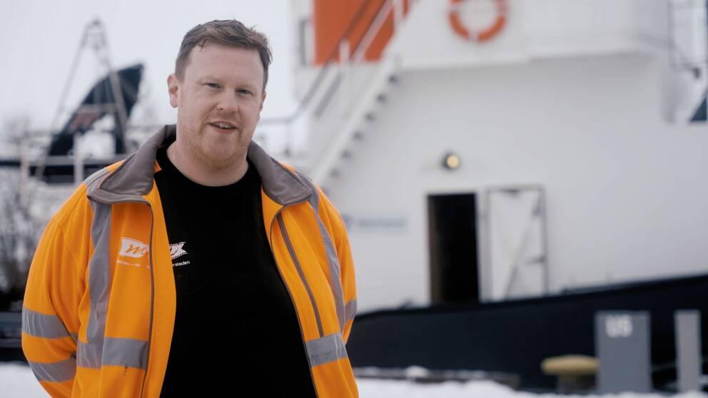 Niclas Eriksson är förtjust i den lilla isbrytaren Anund, som han är kapten på.