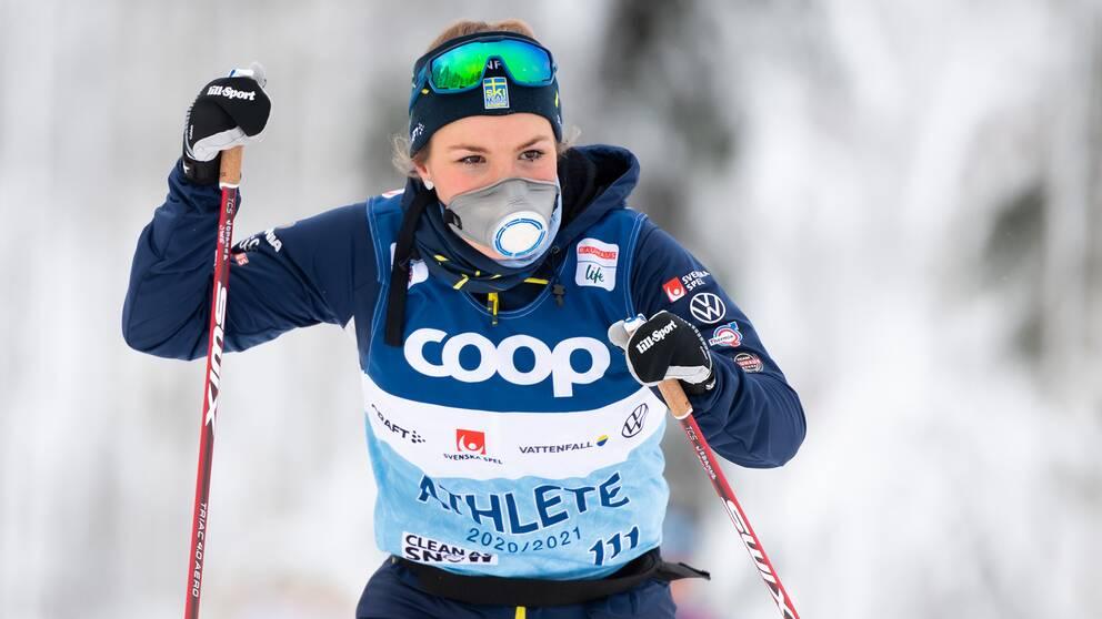 Johanna Hagström får chansen i VM-sprinten.