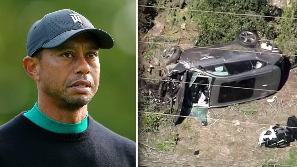 Tiger Woods var under tisdag morgon, lokal tid, inblandad i en allvarlig bilolycka.