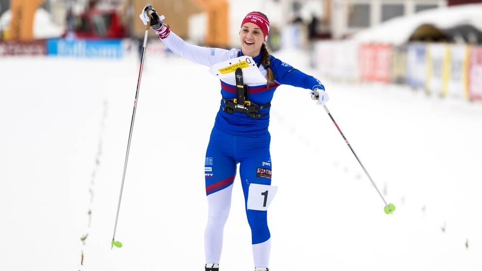 Magdalena Olsson tog andra raka silvret.